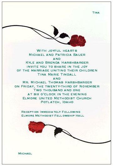 Our Rings Wedding Invitation Wedding Ceremony Wedding Program